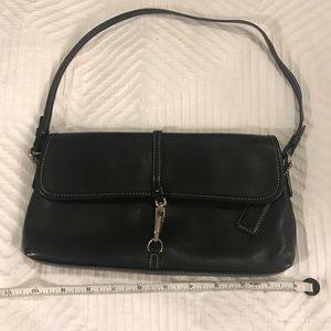 Coach Black Leather Small Shoulder Bag